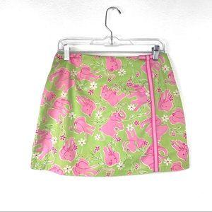 Lilly Pulitzer Vtg Elephant Print Skort Skirt